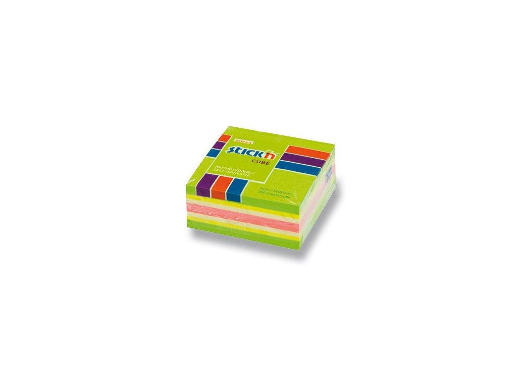 Bloček samolepící Stick in mix zelený 51 x 51 mm 50 listů