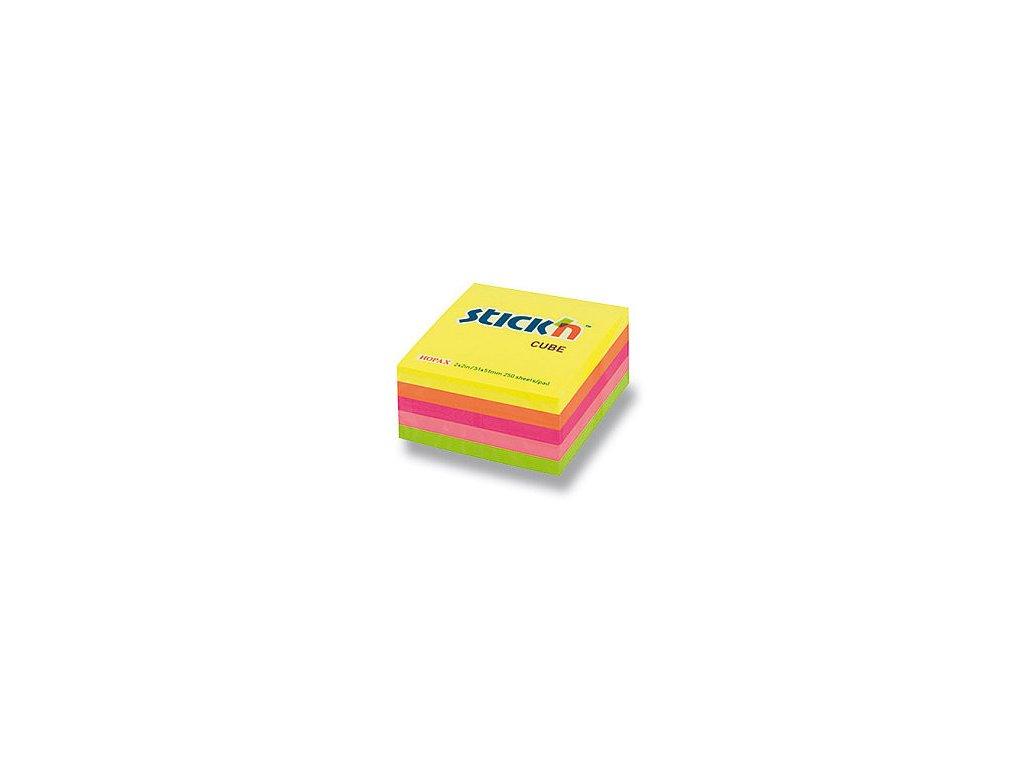 Bloček samolepící Stick in mix žlutý 51 x 51 mm 50 listů