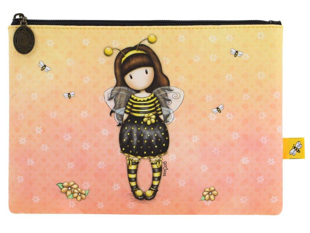 895GJ01 1 pouzdro kapsicka na zip santoro bee loved