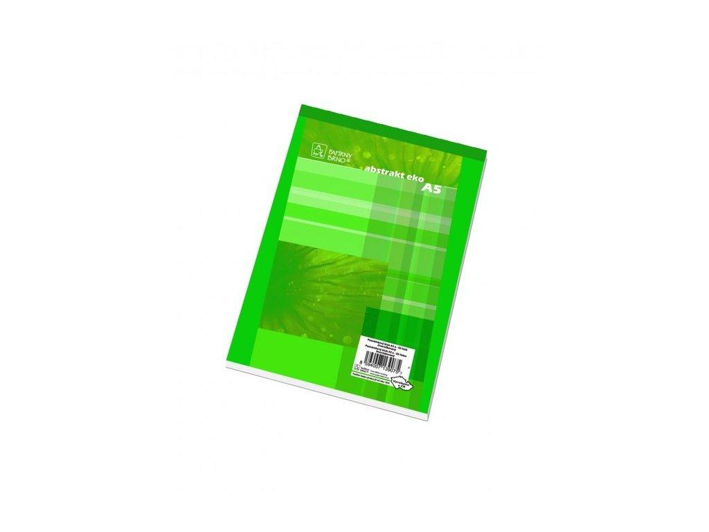 Blok A5 poznámkový, čtvereček, recyklovaný