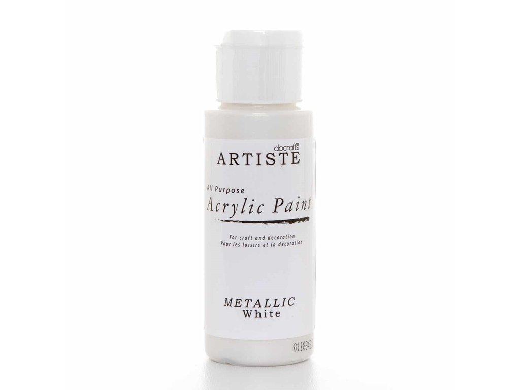 Barva acrylová DO Metalická white