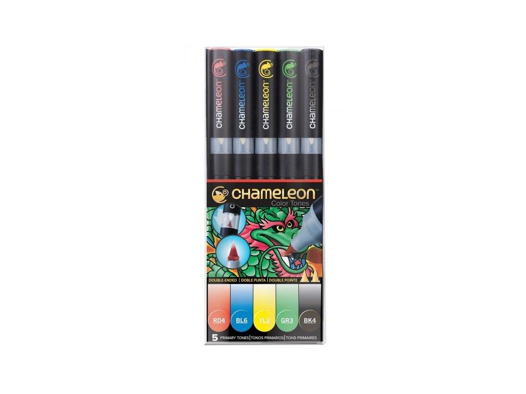 set chameleon tonovaci fixy 5ks zakladni tony
