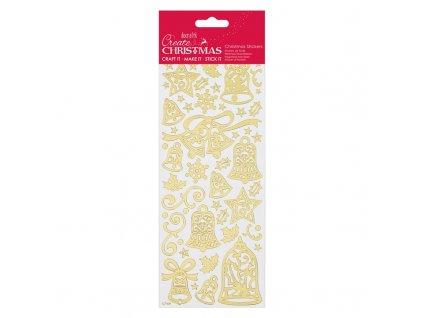 Samolepky vánoční zlaté Bells