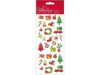 Samolepky DO PMA 828922 vánoční Xmas Cactus
