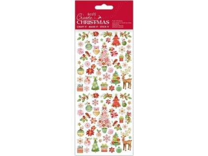 Samolepky DO PMA 828924 vánoční Pink Trees