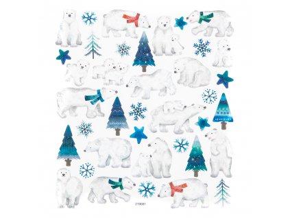 Samolepky lední medvědi, 35 ks