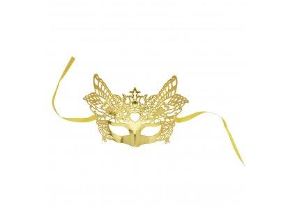 0305o maska benátská zlatá