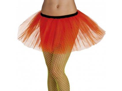 01706 1 neonově oranžová sukně tutu
