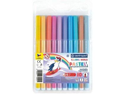 Popisovač centropen 7550/10 barev trojhranné PASTEL