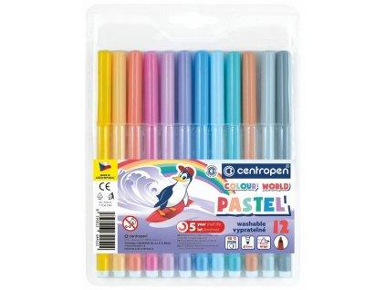Popisovač centropen 7550/12 barev trojhranné PASTEL