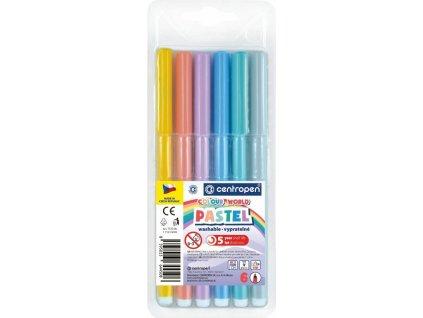 Popisovač centropen 7550/6 barev trojhranné PASTEL