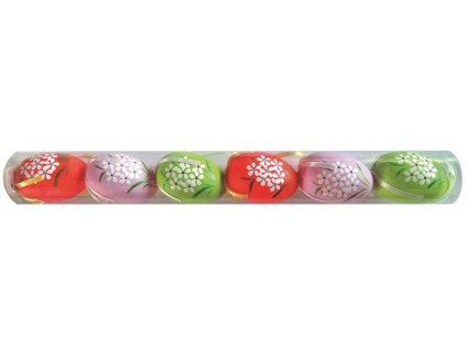 Vajíčka plastová na zavěšení 6 cm, 6 ks v tubě
