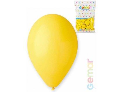 pastelove zlute balonky