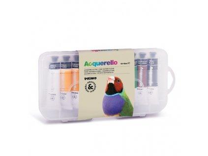 Akvarelové barvy PRIMO, 10 x 18 ml, PP obal