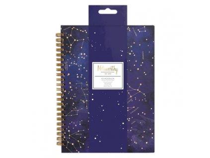 notes s noční oblohou