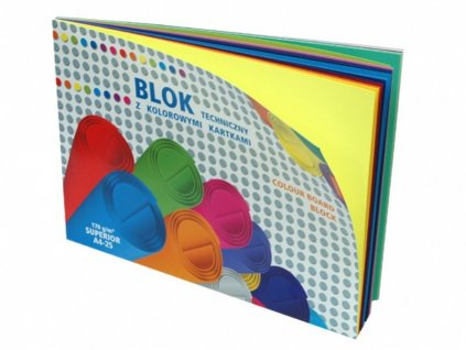 Skicák A4 barevný 25 barev