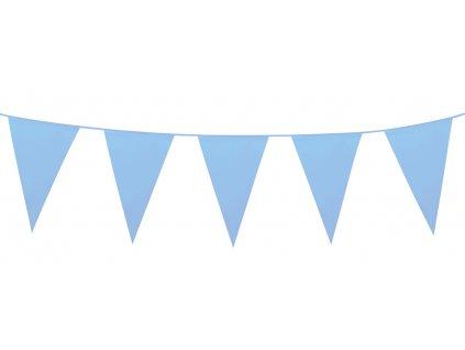 Girlanda PE mini světle modrá