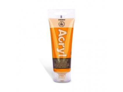 Akrylová barva PRIMO, tuba 75 ml, oranžová