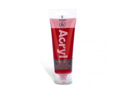 Akrylová barva PRIMO, tuba 75 ml, karmínově červená