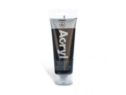 Akrylová barva PRIMO, tuba 75 ml, černá
