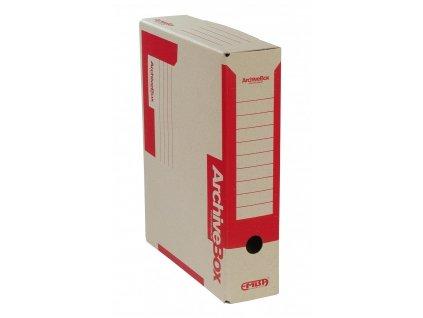 Box archivní 330 x 260 x 75 mm červený A4