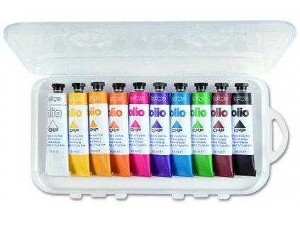 Olejové barvy PRIMO, 10 x 18 ml, PP obal