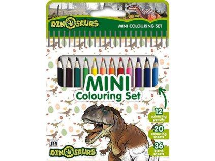 dinosauri mini set s pastelkami
