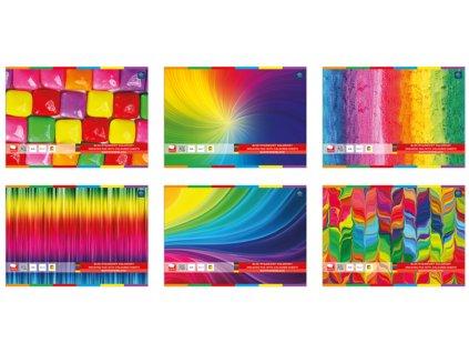 nacrtnik s barevnymi papiry