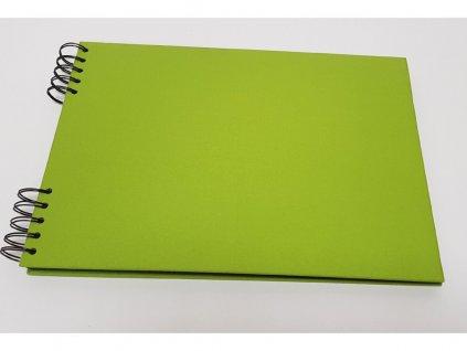 Album Delux světle zelená A5 ležící bílé listy