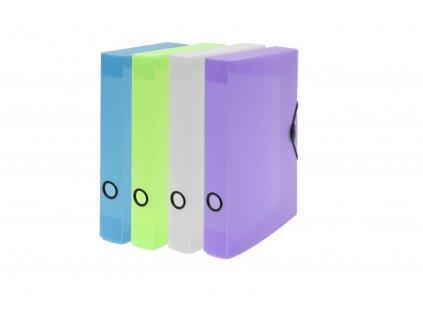 Krabice PP s gumou A4 maxi 60 Opaline Frosty fialová
