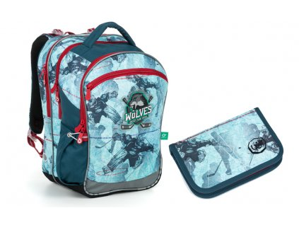 Školní batoh + pouzdro Topgal COCO 19012 B