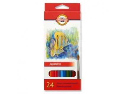 akvarelove pastelky koh i noor 24ks ryby 3718 velky