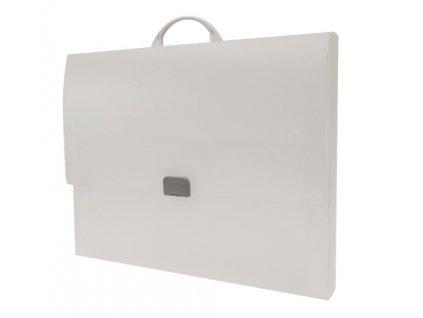 Kufřík PP se zámečkem A3 Opaline Frosty čirá