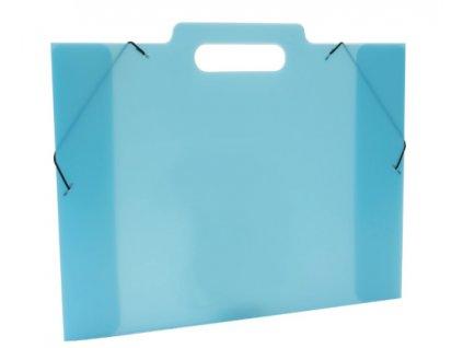 Klopá sloha na výkresy A3 PP Opaline Frosty modrá