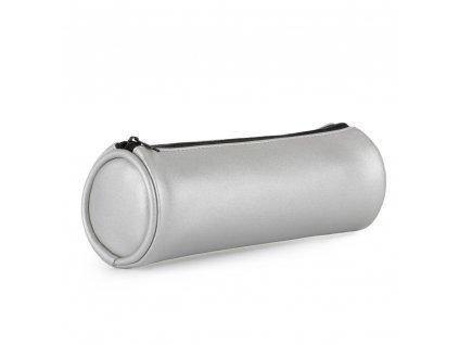 Pouzdro etue PU kulatá Metallic stříbrná