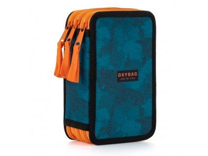 Pouzdro školní 3 patrové prázdné  OXY Style Camo blue