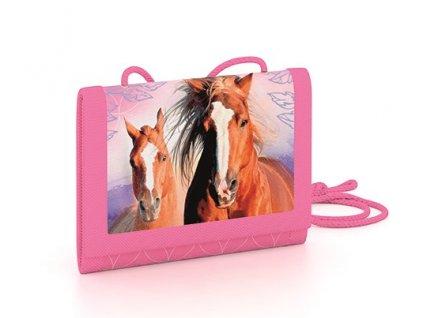 Dětská textilní peněženka kůň