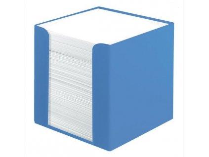 Kostka v krabičce modrá 9x9 cm 70 lístků