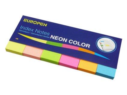 Samolepící bloček Notes Y neon  50 x 20 6 barev