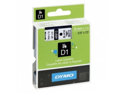dymo black on white