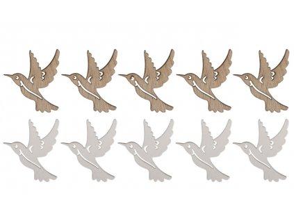 drevena dekorace kolibrik
