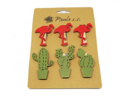 sada ozdobnych kolicku plamenak kaktus