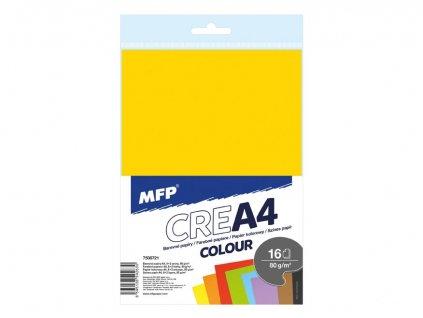 sada barevnych papiru