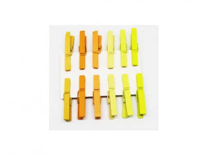 kolicky male 12 ks zlute 221090