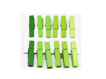 kolicky zelene 12 ks 221099