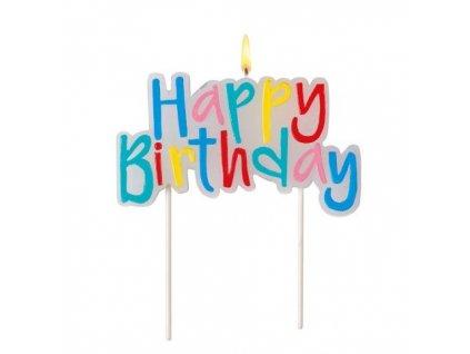 Svíčka dortová Happy Birthday