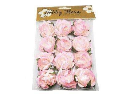 papirove kvetiny 4cm ruzove 703618