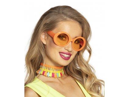 Párty brýle, Jackie oranžové