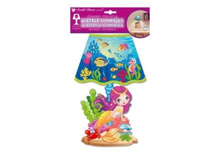 Lampička samolepící svítící LED lampička mořská panna 31cm