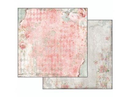 Oboustranný papír na scrapbook - Růže a skvrny